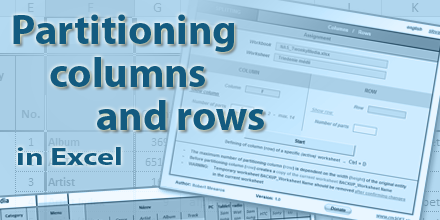 Partitioning Columns and Rows in Excel