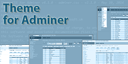 Theme for Adminer